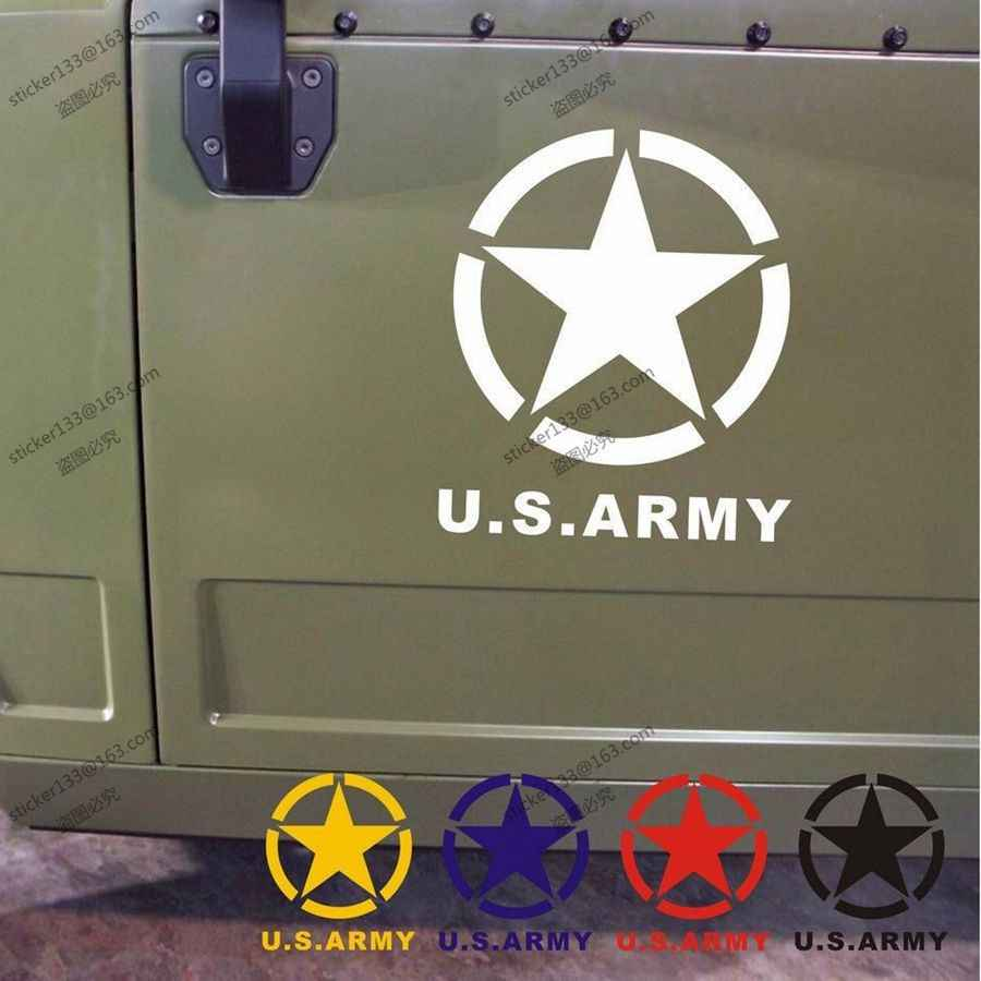 Detail feedback questions about army star ww2 vinyl car decal bumper sticker fit for jeep etcchoose size and color on aliexpress com alibaba group