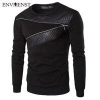 2016 Fashion Big Size FLC Brand Clothing Zipper Design Men S Hoodies Pullover Sweatshirt For Men
