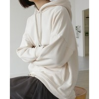 Fashion New Women Pockets Loose Sweatshirts Elegant Solid Batwing Sleeve Casual Hoodies Female Hooded Tops