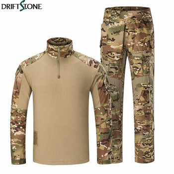 BDU Army Combat Suit Camouflage Men Tactical Military Uniform Clothing Sets Waterproof Cargo Pants Long Sleeve T-shirts XXXL