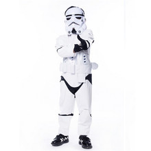 New Child kids Deluxe Star Wars The Force Awakens Storm troopers Cosplay Fancy Dress Classic Halloween Faux Leather Costumes