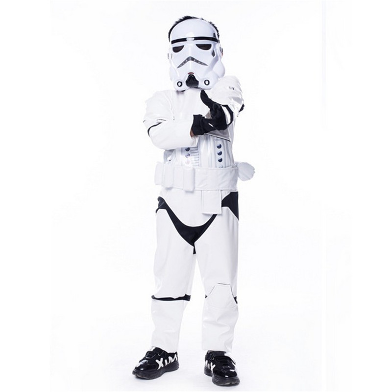 New Kids Child Boy Deluxe Star Wars The Force Awakens Stormtroopers Cosplay Fancy Dress Classic Halloween