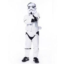 Nuevo niño cabritos deluxe star wars the force despierta stormtroopers cosplay fancy dress clásico de halloween trajes de cuero de imitación(China (Mainland))