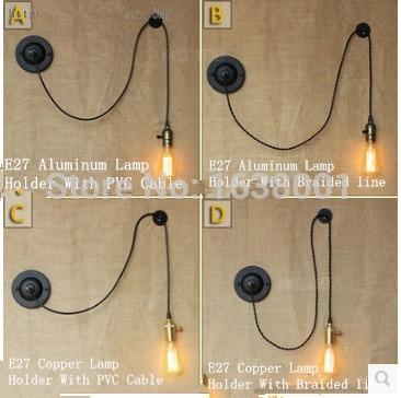 Industrial Vintage Wall Sconce/Lamp DIY Creative Arts Minimalist Decoration  Bedroom Bedside Wall Lamp