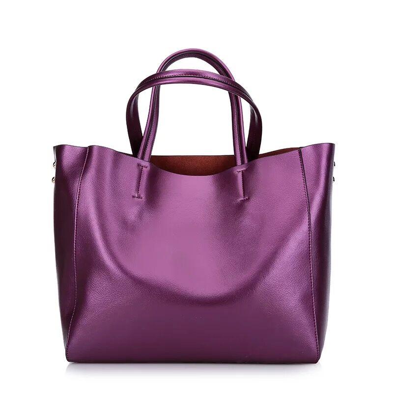 2018 genuine leather women s handbag large real leather shoulder bag for Travel natural leather messenger