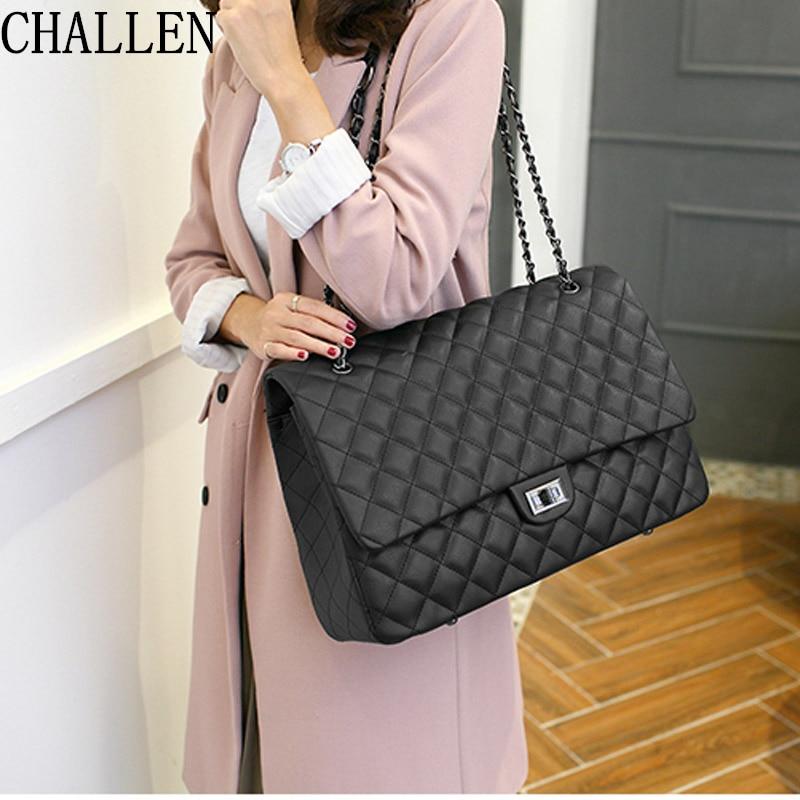 Travel big bag 2018 luxury handbags women bags designer Lingge chain shoulder Messenger fashion women's handbags bolsa feminina цены