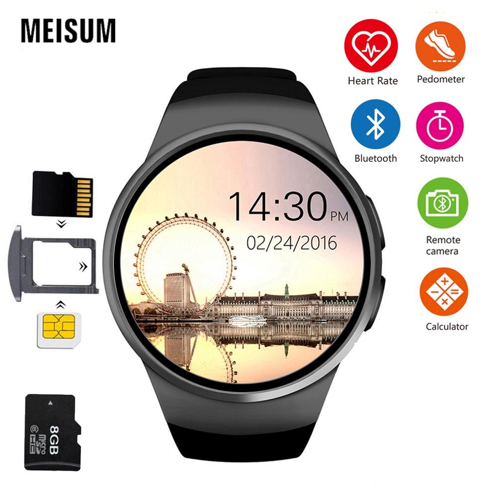 где купить MEISUM KW18 Smart Watch Men Support SIM TF Card Bluetooth Call Heart Rate Pedometer Sport Smartwatch For apple huawei xiaomi дешево