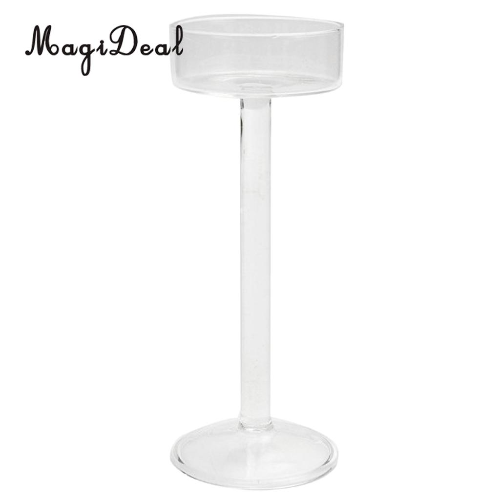 12pcs set clear glass candle stand tall long pillar candle holder candlestick wedding banquet table