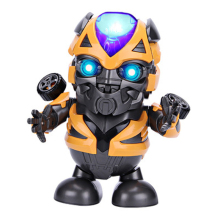 New 2019 music robot dancing bumblebee spiderman dancing robot children electric music gift ages 3-12 years old new 360 degree rotation smart space electric robot dancing music light toy children gift sell hotting