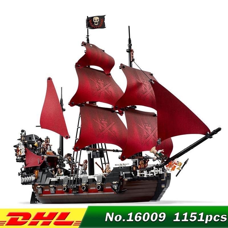 New AUSINI 1151pcs Queen Annes revenge Pirates of the Caribbean Building Blocks Set Bricks Compatible 4195