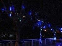Veelkleurige LED Meteorenregen Regen Buis Licht Outdoor Boom Decoratie Wedding lampen Slingers 1 set 8 Buis 20 cm 10 SMD Groothandel