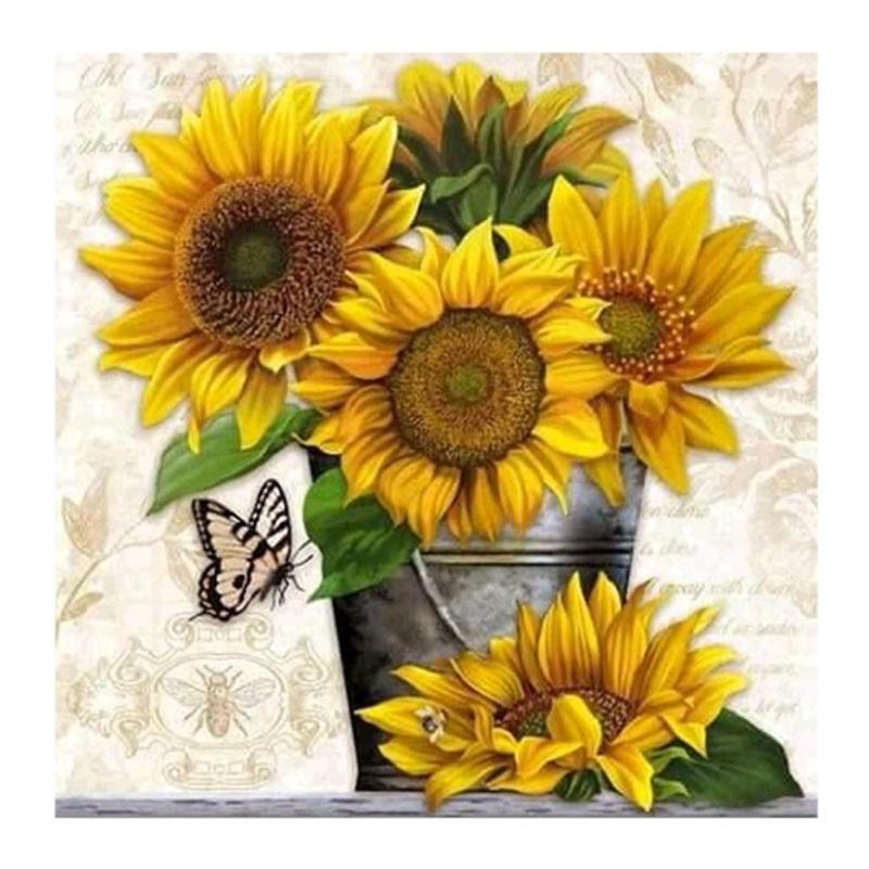 New Patterns Rhinestones 5D Diamond Painting Sunflower Painting Embroidery DIY Needlework Cross Stitch Kit