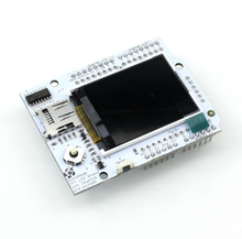 5pcs/lot Smart Electronics for arduino Full color Duinopeak 1.8 inch TFT LCD extension plate W/MICROSD AND JOYSTICK