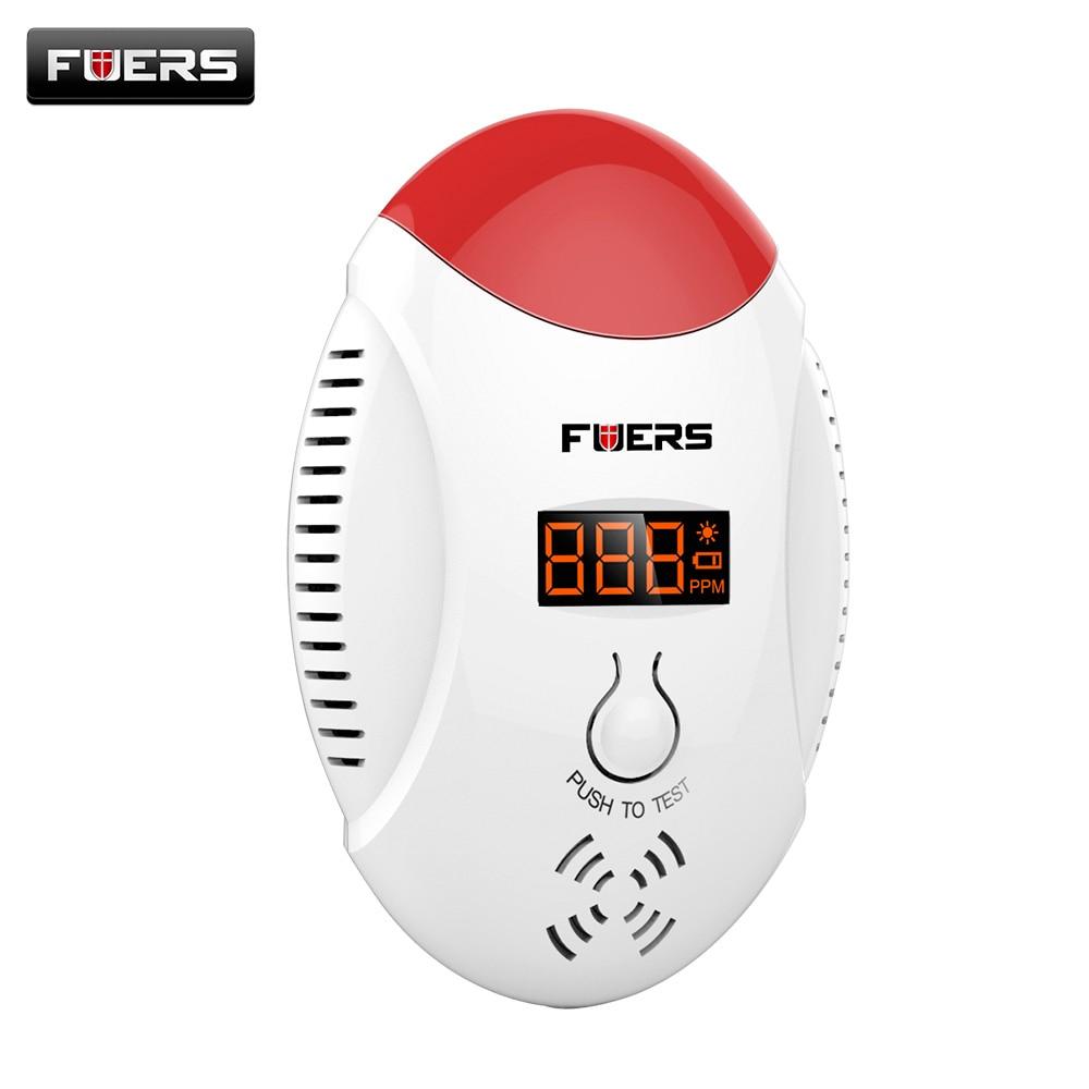 LED Digital Display Carbon Monoxide CO Detector Voice Strobe Alarm Sensor Home Alarm System Fire Detector golden security lpg detector wireless digital led display combustible gas detector for home alarm system