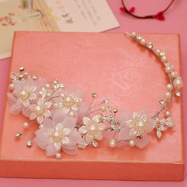 Newest Luxury Wedding Bridal Crowns Headbands Gold/Silver Tiara Rhinestone Hair Band pearl Bridal Hair Jewelry
