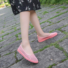 Breathable sneakersen Casual Fashion Women Hollow Flat Heel Slip On Casual Peas Boat Shoes#NFA(China)
