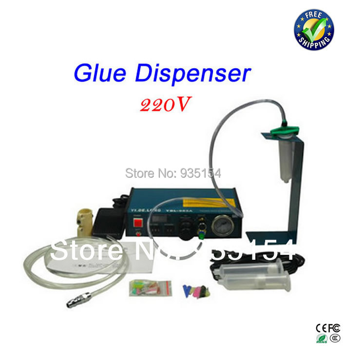 Auto Glue Dispenser Solder Paste Liquid Controller Dropper Fluid dispenser YDL-983A, 983A machine 11 11 free shippinng 6 x stainless steel 0 63mm od 22ga glue liquid dispenser needles tips