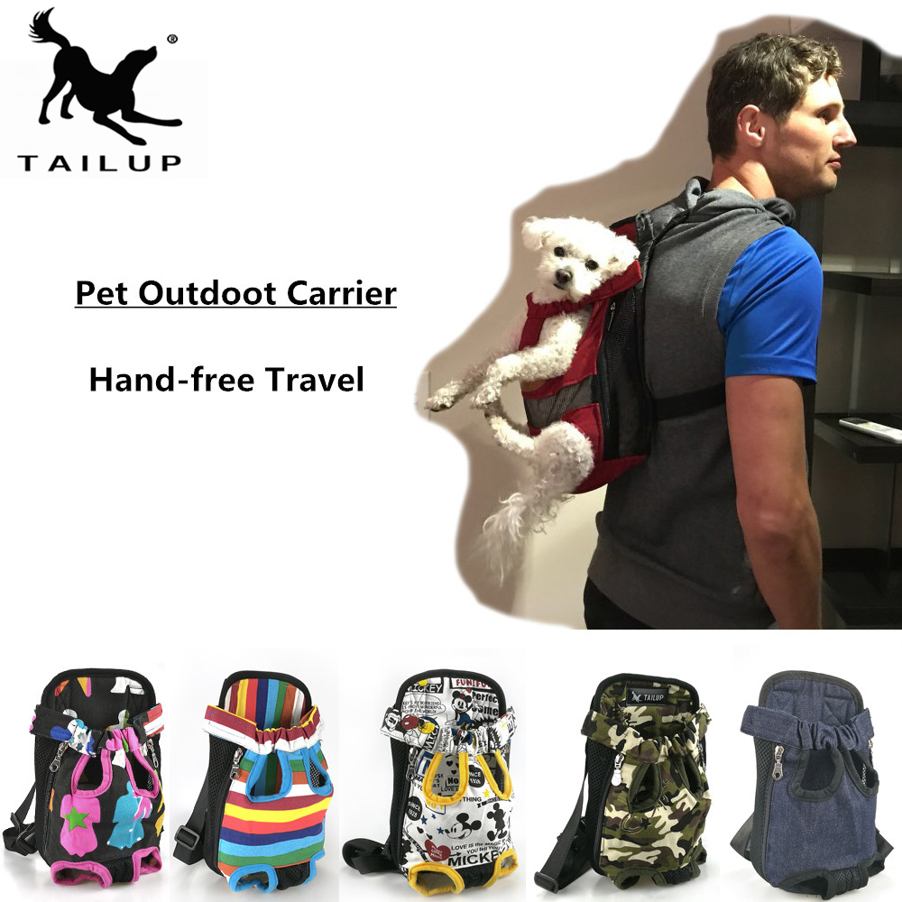 [tailup] Dog Carriers Fashion Red Color Travel Dog Bag Backpack Breathable Pet Bag Pet Puppy Carrier Christmas Gifts Py0002