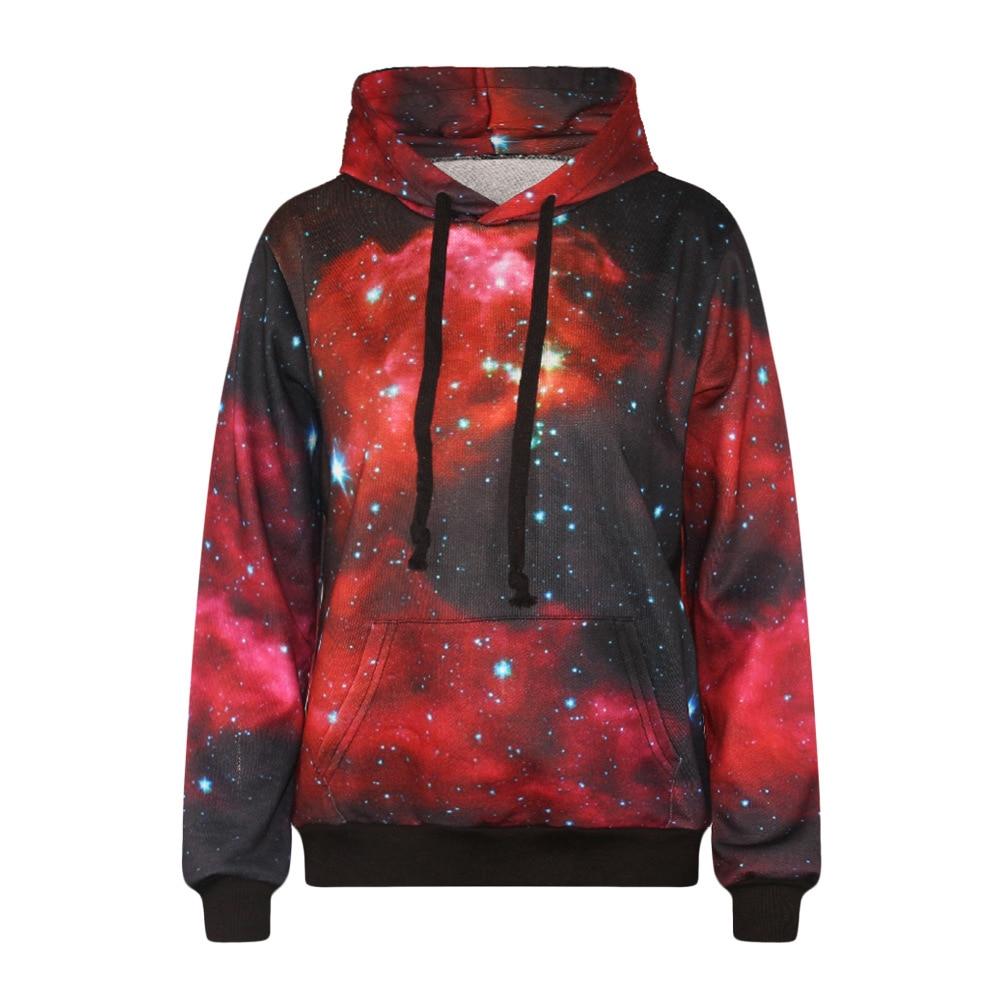 Unisex Galaxy Animal Graphic 3D Print Hoodies Long Sleeve Pocket Sweatshirt Tops