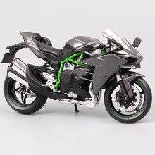 1/12 Automaxx Kawasaki Ninja H2 supersport bisikleti H2R ölçekli motosiklet Diecasts ve oyuncak araçlar modeli thumbnails için çocuk koleksiyonu