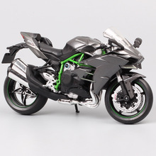 Automaxx motocicleta modelo Kawasaki Ninja H2 supersport, vehículo de juguete para niños, escala H2R, colección de 1/12