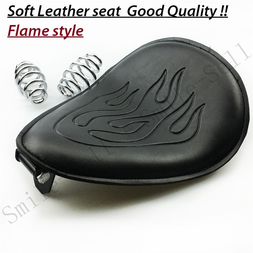 Motorcycle accessories Spring leather solo Flame seat Bracket For Harley Honda Sportster chopper Suzuki dwcx motorcycle adjustable chain tensioner bolt on roller motocross for harley honda dirt street bike atv banshee suzuki chopper
