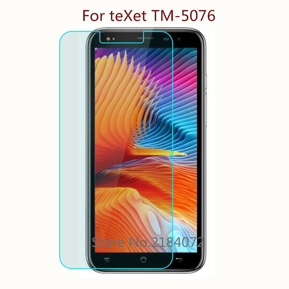 Купить 9h 2,5D Экран протектор Стекло телефон для teXet TM-5076 телефон закаленное Стекло Смартфон Передняя защитная пленка Экран на Алиэкспресс