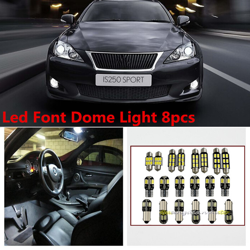 2006 Lexus Lx Interior: Tcart 8 X Error Free White Interior LED Light Package Kit