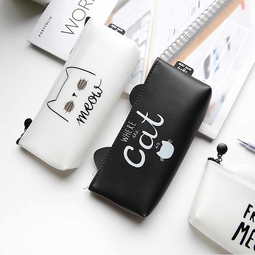 Fábrica local direta moda casual bonito dos desenhos animados caixa de lápis de papelaria Saco de Mão bolsa de maquiagem bolsa com zíper caso