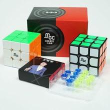 Cubo mágico magnético YJ MGC V2 M 3x3x3, versión 2, Yongjun MGC V2 2*2, Cubo de velocidad para entrenamiento cerebral, juguetes para niños