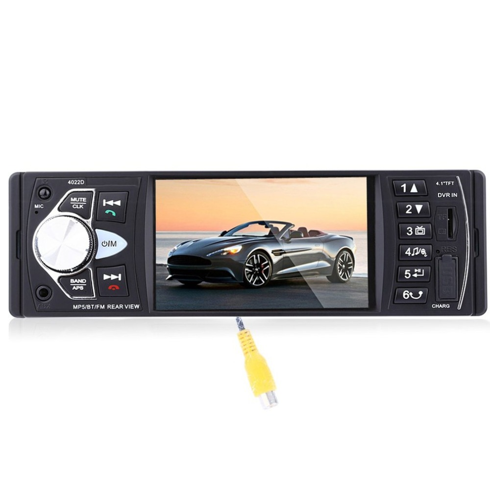 with steering wheel control 4022D 4.1-inch Car MP5 Player TFT Screen Bluetooth Stereo Auto Video DVD Player with USB Port