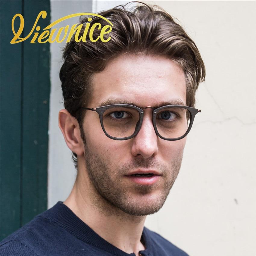 2017 Vintage Gläser Rahmen Frauen Transparent Holz Gläser Klar Acetat Ultraleichte Brille Schwarz Brillen Frauen Brillen