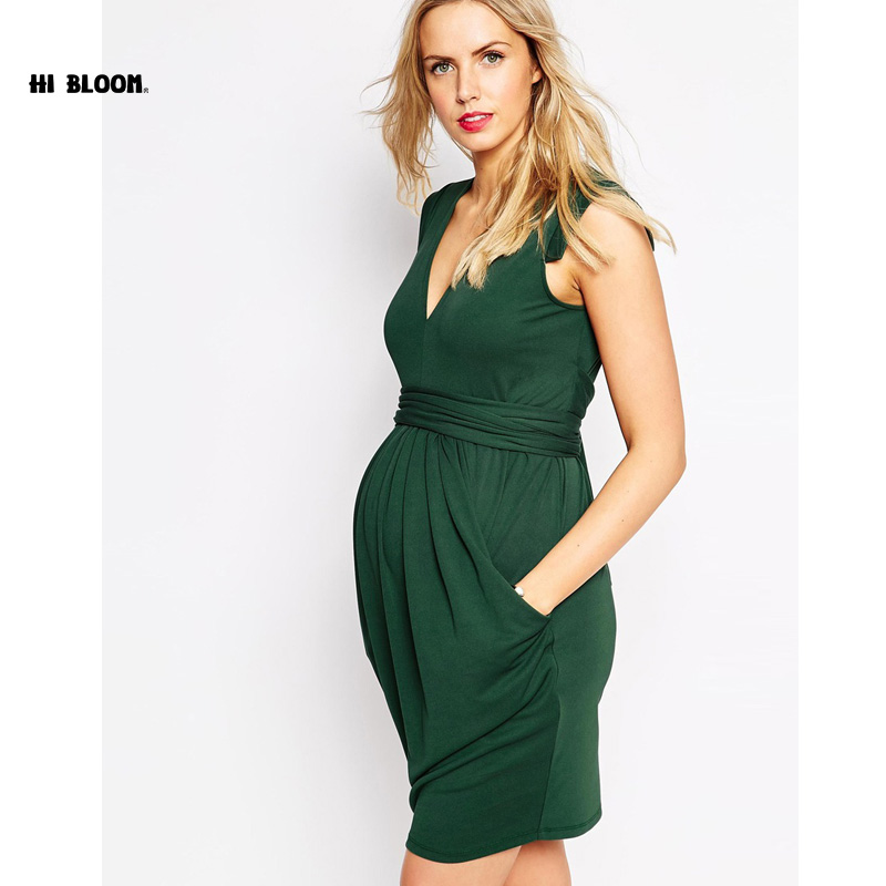 Maternity Clothes V-Neck Long Evening Dress+Sashes For Pregnant Women High Quality Pregnancy Party Prom Dress Vestidos