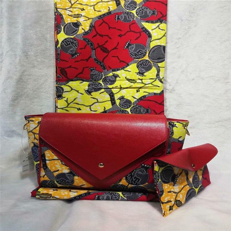 NN! nouveau! ensemble de sac à main de cire de femme africaine le plus populaire, sac de cire de haute qualité 6 yards de cire africaine imprime le tissu hollandais! L110512