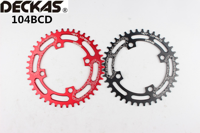 104BCD Bicycle Chainring 40//42//44//46//48//50//52T Round Chain ring With 5pcs Bolts