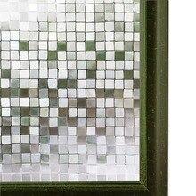 WXSHSH PVC Window Film Privacy Glass Sticker Waterproof No-Glue 3D Static Decorative Home Decor Size /45/60/75/90 x 300 cm