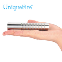 UniqueFire UF G6 T6 Stainless Steel Rechargeable Battery 1* 18650 Cree T6 Led Flashlight Silvery Tempered Glass Lens Lamp