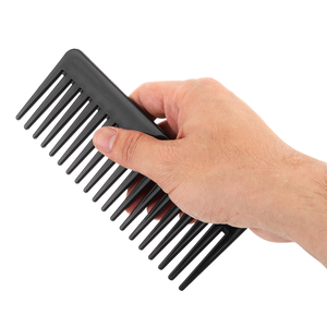 Image 5 - 19 שיניים רחב שן מסרק שחור ABS פלסטיק עמיד בחום גדול רחב שן מסרק שיער סטיילינג כלי