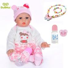 Muñeca NPK Reborn 55CM silicona suave Reborn Baby Dolls vinilo recién nacido juguetes muñecas l. o l regalo bebes reborn metoo