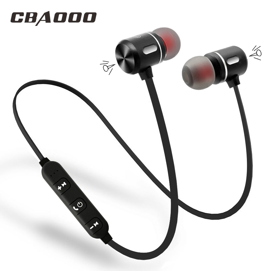 CBAOOO Wireless Bluetooth Earphone Headphones Sport Bluetooth Headset Earbuds Magnetic Earpiece with Microphone for phone bluetooth headphones for ios android phone wireless earphone with microphone mini handfree ear hook headset earbuds headphone