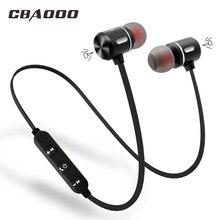 CBAOOO Беспроводной Bluetooth наушники спортивные гарнитура Bluetooth наушники Магнитный динамик с микрофоном для телефона