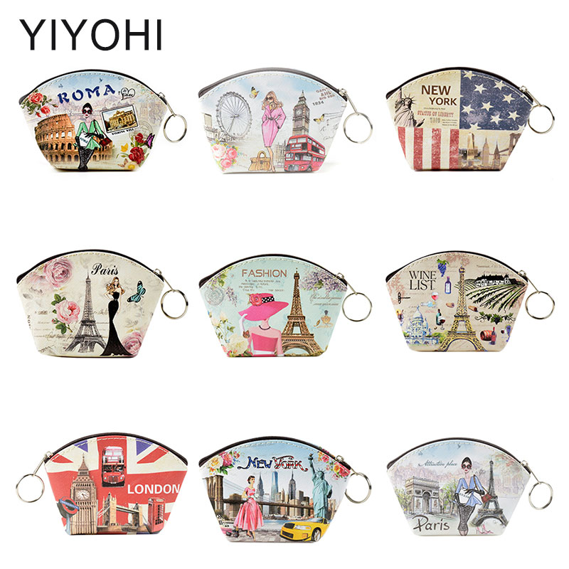 Newest Shell Design European Style PU coin purse Change Purse Card Holder Girls Wallet Purse Women Clutch Zipper Coin Bag Pouch coin purse key chain zipper change wallet card holder mesh breathable admission package wash cosmetic pouch
