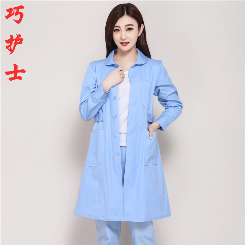 The hospital overalls sky blue nurses wear female guide to buy the work clothes of female doctors work dress work dress