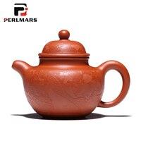 240 мл Исин Аутентичные сырой руды фиолетовый глины Чай Горшок Офис кунг фу Чай комплект Dahongpao горшок Hamdmade Винтаж фильтр чёрный чай чайник