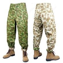 WW2 армии США USMC тихоокеанские камуфляжные хлопковые брюки