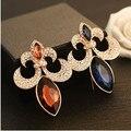 Declaração Marca Banhado A Ouro Broches Pinos Cachecol Broche de Cristal Acessórios de Moda feminina Jóias 18X