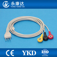 Creative Holter 3 lead ECG leadwire set,IEC,DIN3.5>>snap