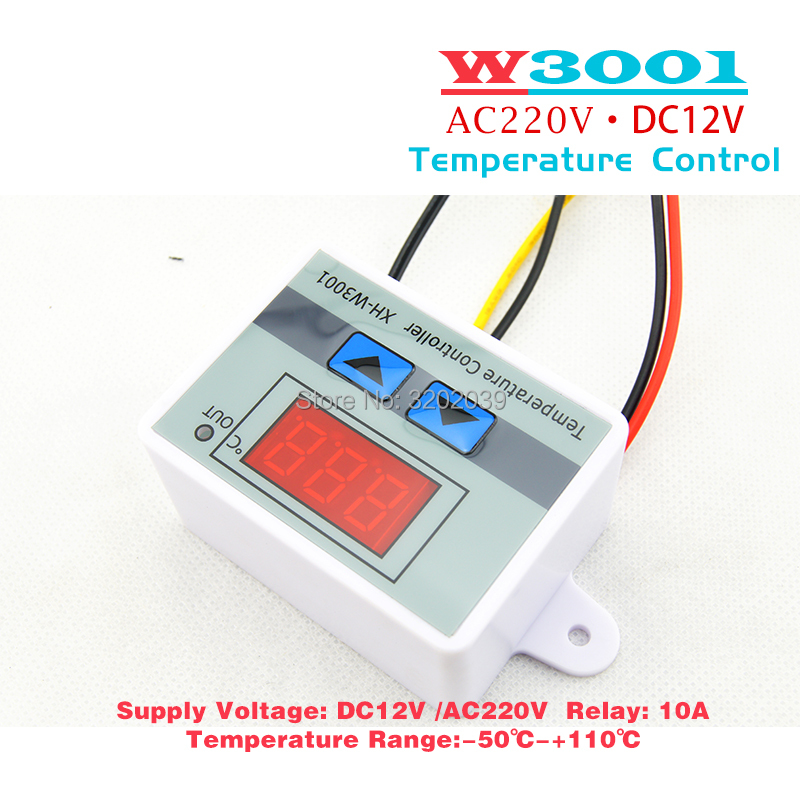 10A 12V 24V 220VAC Digital LED Temperature Controller XH W3001 for Diagram Controller Temperature Wiring Xh W on