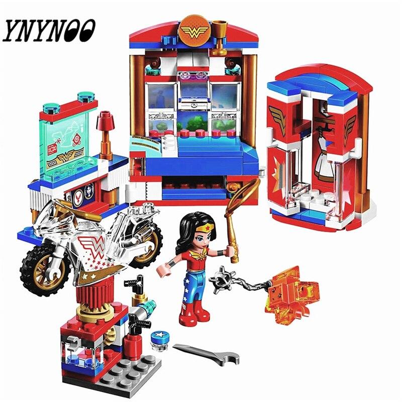 YNYNOO тюк 10616 Новый DC Marvel Мстители супер героев для девочек серии Wonder Woman общежития Building Block игрушки детские L