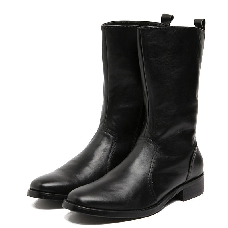 Black De Blakc Plate Bottes Homme Légère Stivaletti En Nouvelle Britannique Style Cheville Heinrich Cuir Hommes Chaussures forme Uomo Hiver 4j5AR3Lq